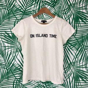 J. Crew On Island Time Graphic T-Shirt Medium